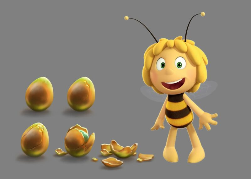 Maya the bee and Golden Orb